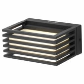 Stanley 4.5W Industrial LED Wall Light - 4000K - Black)