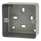 MK 1 Gang Surface Back Box with Knockout - 41mm - Steel)