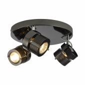 Pedro Cylinder Circular Spotlight - 3 Light - Black Chrome )