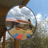 Interior/Exterior Acrylic Convex Mirror - 400mm Diameter)