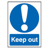 Keep Out - 210 x 148mm - Rigid Plastic)