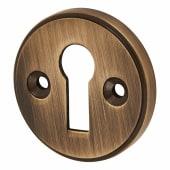 Escutcheon - Keyhole - Antique Brass)
