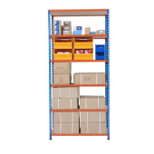 6 Shelf Commercial Shelving - 340kg - 1980 x 915 x 455mm)
