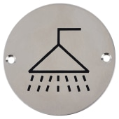 Shower - 75mm - Polished Stainless Steel)