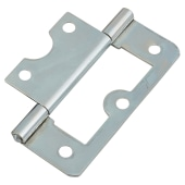 Flush Hinge - 60mm - Zinc Plated - Pack of 10 pairs)
