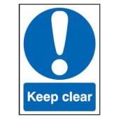 Keep Clear - 420 x 297mm - Rigid Plastic)