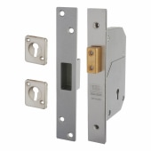 UNION® 3G110 5 Detainer High Security Deadlock - 73mm Case - 44mm Backset - Sat Stainless)