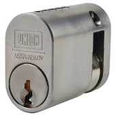 UNION® J2X1 Oval 2 x 1 Single Cylinder - 40mm - Satin Chrome)