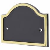 Blank Plate - Bridge - Polished Brass and Black)
