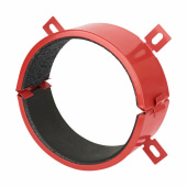 Sealmaster FireClose Intumescent Pipe Collar - 82mm - Red)