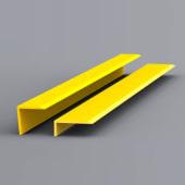 EdgeGrip Nosing Strip - 1500 x 70 x 30mm - Yellow)