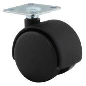 ION Mini Twin Wheel Castor - No Brake - 40mm Wheel Diameter - Pack 4)