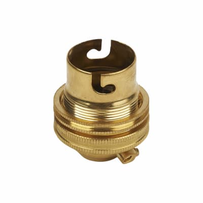 Threaded Brass BC Lampholder - Brass