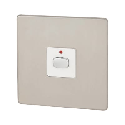 Energenie MiHome Single Light Switch - Brushed Chrome