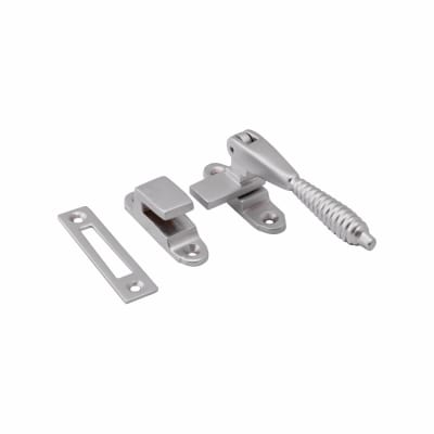 Hampstead Reeded Hook & Plate Window Fastener - Soft Satin Chrome