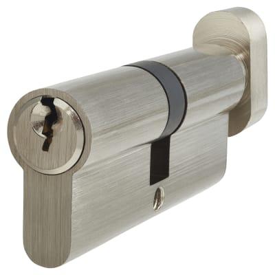 5 Pin Cylinder - Euro Thumbturn - Length 80mm - 40[k]* + 40mm - Nickel