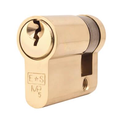 Eurospec MP5 - Euro Single - 30 + 10mm - Polished Brass  - Master Keyed