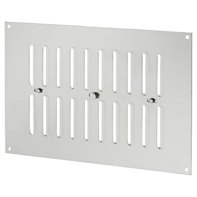 Hit & Miss Pattern Vent - 242 x 165mm - 1960mm2 Free Air Flow - Satin Stainless