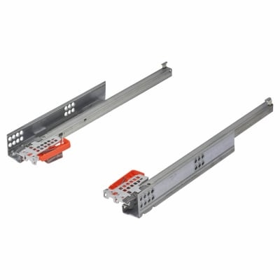 Blum TANDEM BLUMOTION Soft Close Drawer Runners - Single Extension - 400mm - 30kg