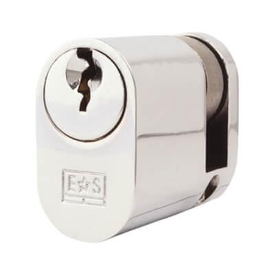 Eurospec MP5 - Oval Single - 30 + 10mm - Polished Chrome  - Keyed Alike