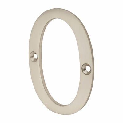 Morello Door Numeral - 0 - 76mm - Satin Nickel