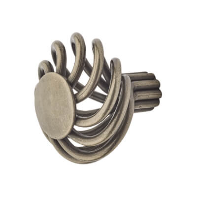Touchpoint Cage Flat Cabinet Knob - 34mm - Polished Steel