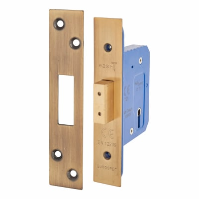A-Spec Architectural 3 Lever Deadlock - 65mm Case - 44mm Backset - Florentine Bronze
