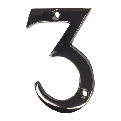 Screw Fixed Number - 3 - Black Nickel