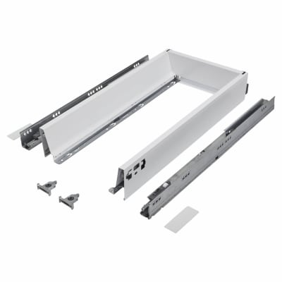 Blum TANDEMBOX ANTARO Drawer Pack - BLUMOTION Soft Close - (H) 84mm x (D) 500mm x (W) 400mm - White