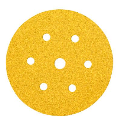 Mirka Gold Disc 7 Hole - 150mm - Grit 60 - Pack 50