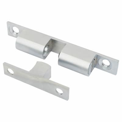 Veel-2 Double Ball Roller Catch - 70 x 12mm - Satin Chrome - Pack 5