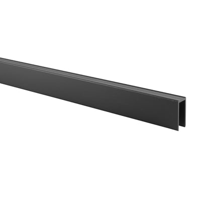 Premier Channel Headrail - Black Textured - 12-13mm Panels