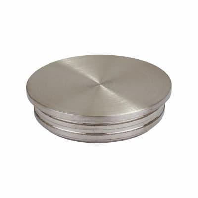 Balustrade Circular Flat End Cap - 304 Stainless Steel - Brushed Satin
