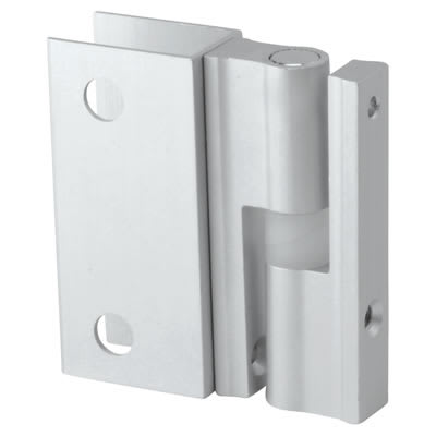 Pro Self Closing Hinge - Satin Anodised Aluminium - 12-13mm Panels