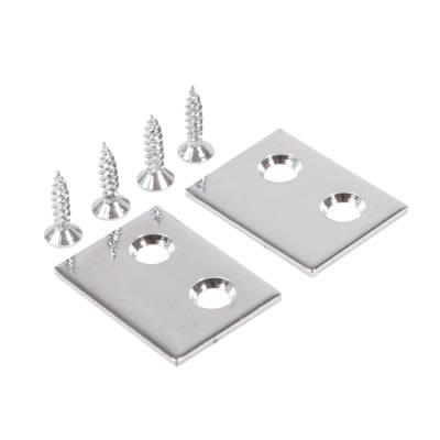 Rola Sash Stop Plate - 25 x 18mm - Chrome Plated