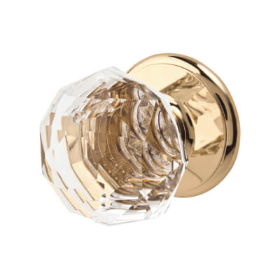 Gainsborough Sonata Door Knob - Crystal & Gold