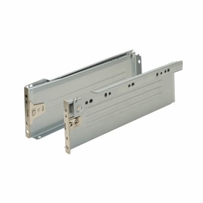 Motion Innobox Metal Drawer Runner Pack - (H) 54mm x (D) 450mm - Silver Grey