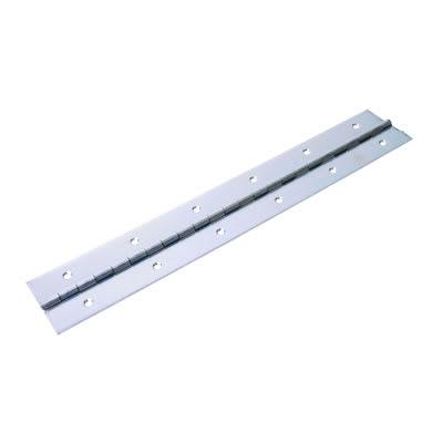 Heavy Mild Steel Piano Hinge - 2134 x 50 x 1.2mm - Zinc Plated