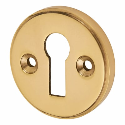 Escutcheon - Keyhole - Polished Brass