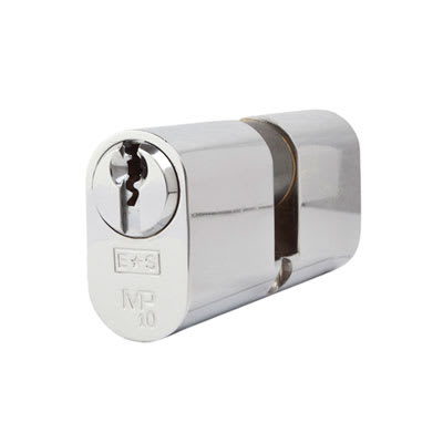 Eurospec MP10 - Oval Double Cylinder - 35 + 35mm - Polished Chrome  - Keyed to Differ