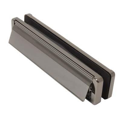Fab & Fix - uPVC/Timber - Nu-Mail Letter Plate - 40-80mm Door - Bright Bronze