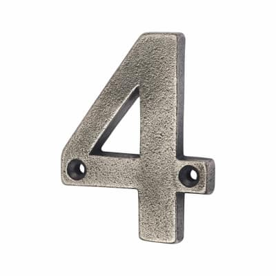 Olde Forge 78mm Numeral - 4 - Pewter