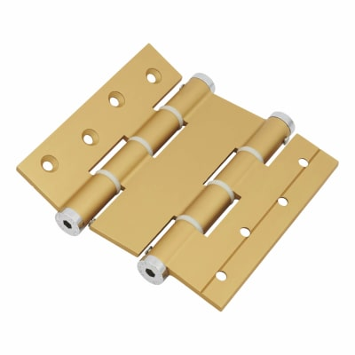 Architectural Double Action Spring Hinge - 120mm - Gold