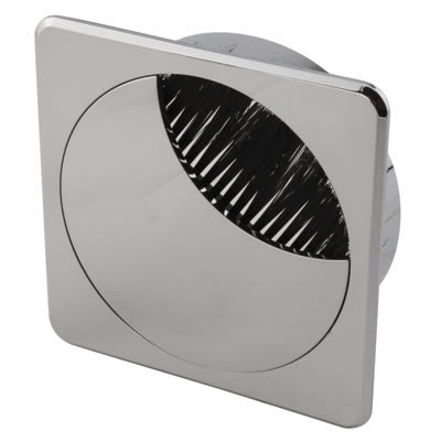ION Square Cable Tidy - 80mm - Chrome