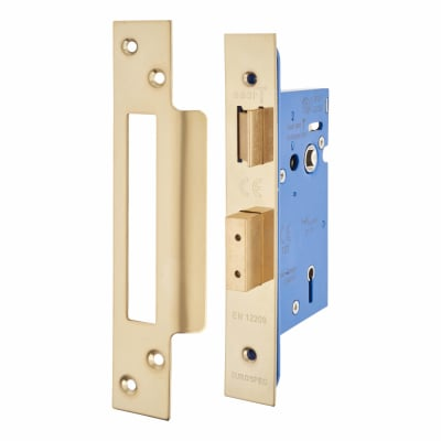 A-Spec Architectural 5 Lever Sashlock - 65mm Case - 44mm Backset - PVD Brass