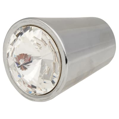 Aglio Venice Crystal Cabinet Knob - 17mm - Chrome