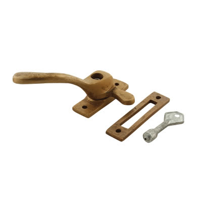 Louis Fraser Locking Ball End Window Fastener - Left Hand - Oil Rubbed Bronze