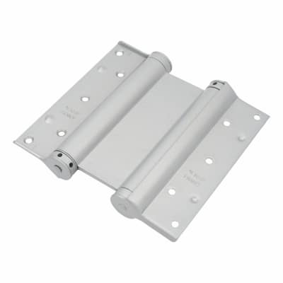 Double Action Spring Hinge - 200mm - FD60 - Silver