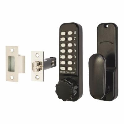 Borg BL2601 Marine Grade Easicode Pro Code Operated Lock with Thumbturn - Black