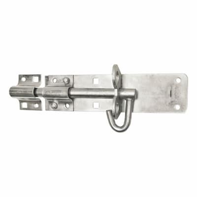 Brenton Pattern Padlock Bolt - 150mm - Zinc Plated